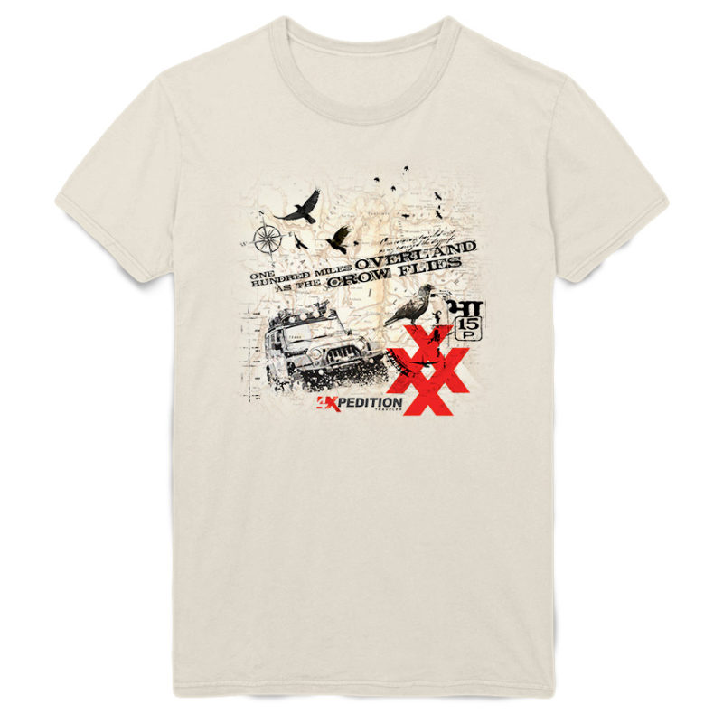 4x As The Crow Flys Jeep Tee