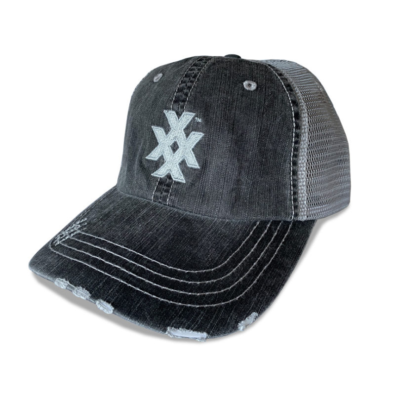 Distressed Unstructured 4X Icon Trucker Cap
