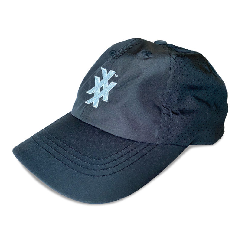 Unstructured Sport Dry Black Athletic cap with 4X Icon