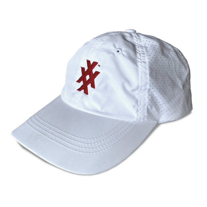 Unstructured sport dry athletic cap with 4x icon