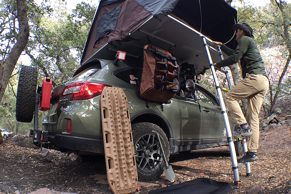 4xpedition subaru outback overland road warrior ikamper skycamp