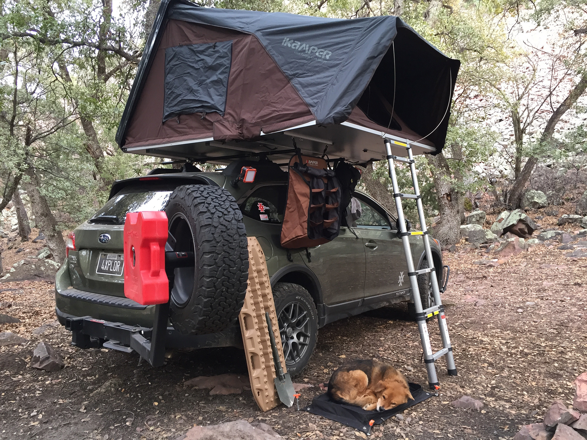 4XPEDITION Subaru Outback Overland with IKamper Rooftop Tent MaxTrax