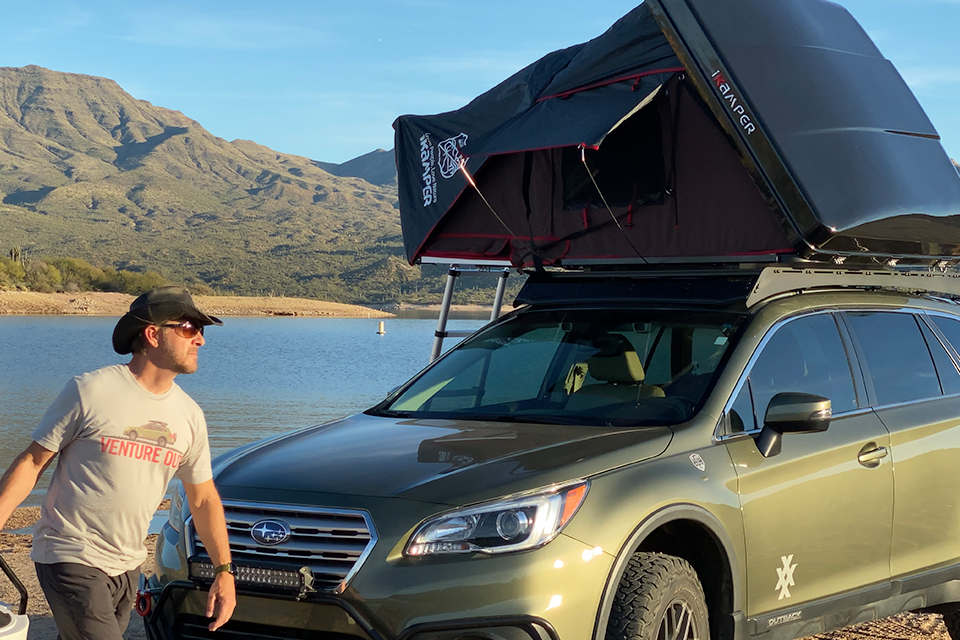4XPEDITION Subaru Outback with iKamper Skycamp Mini Scott Leuthold