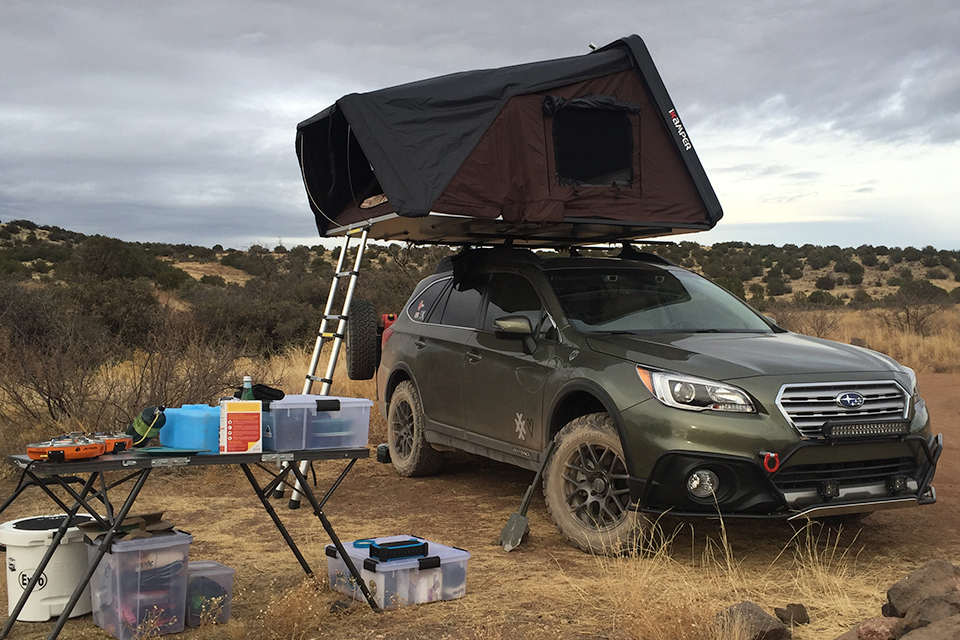 4XPEDITION Subaru Outback with iKamper Skycamp