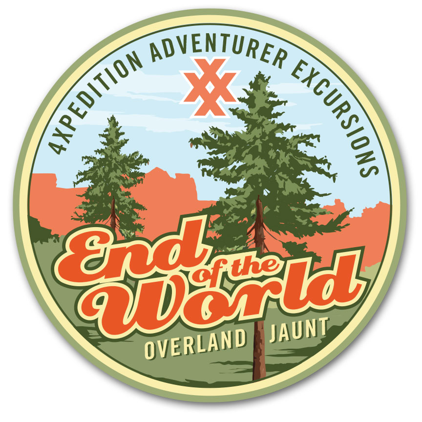 4XPEDITION End of the World Overland Jaunt Logo